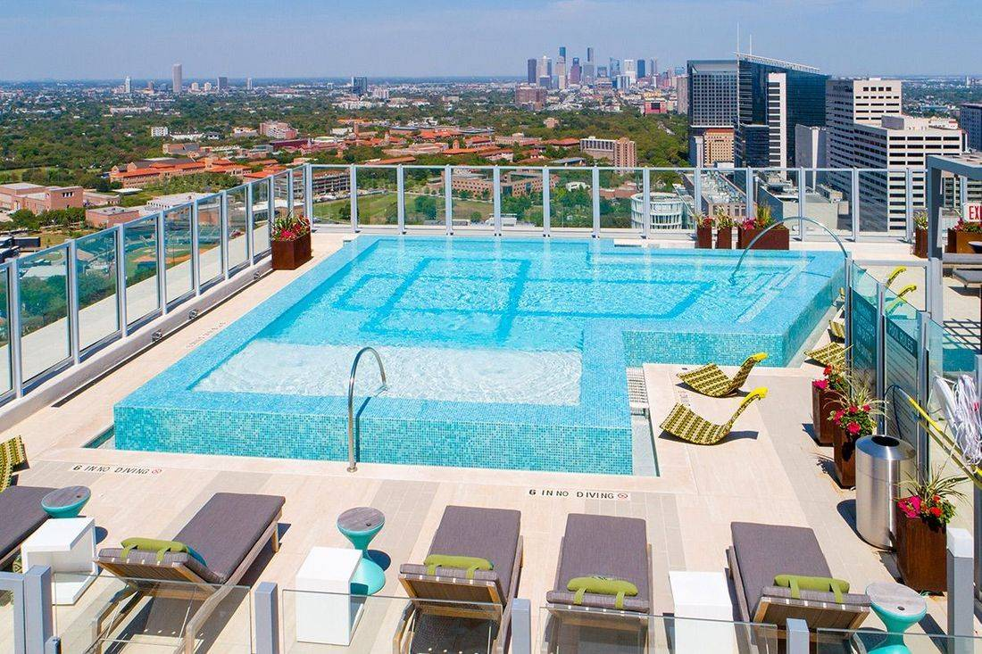 rooftop pool high rise apartments