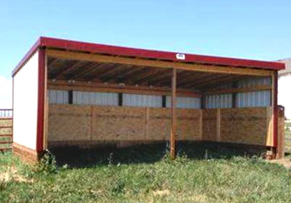12 x 24 Loafing Shed with Kick board