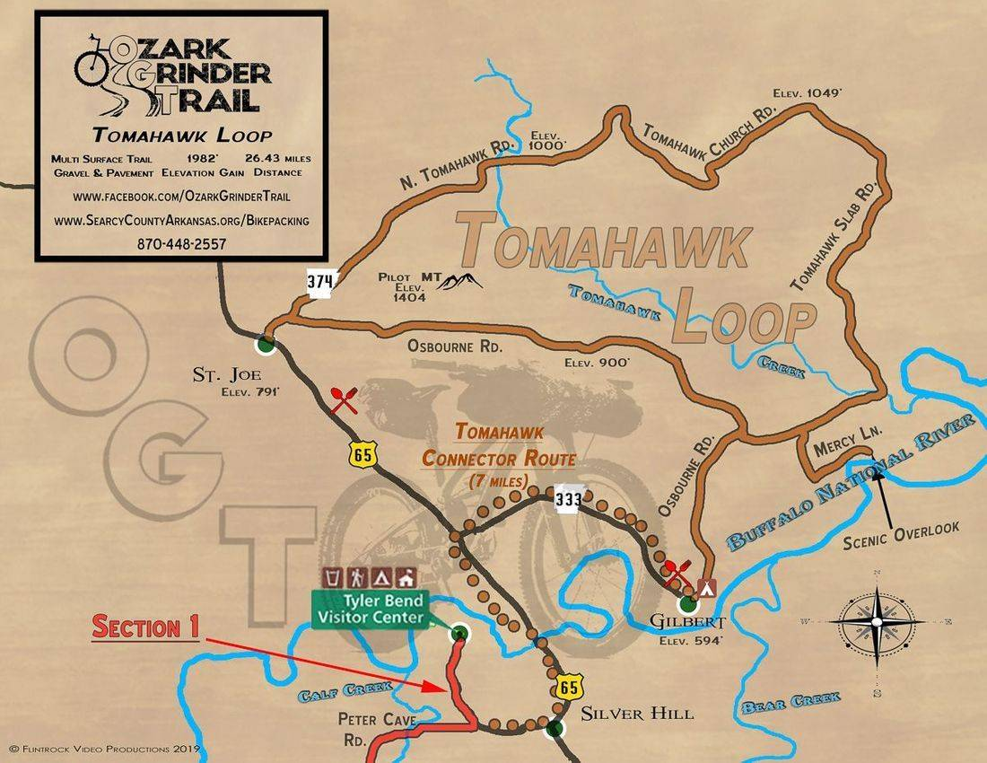 Ozark Grinder Trial Map