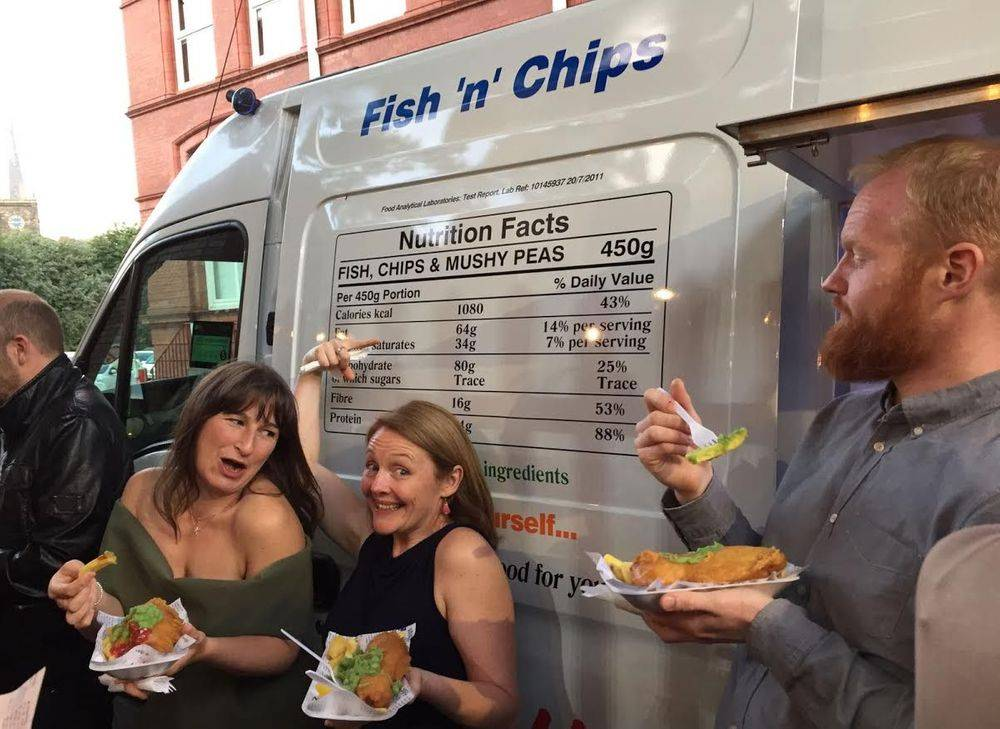 Wedding catering fish and chips van hire