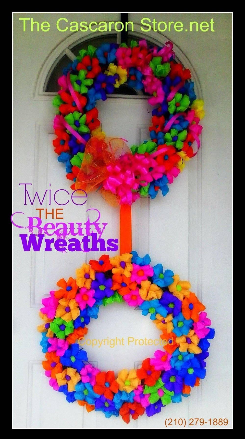 fiesta wreath double door decoration