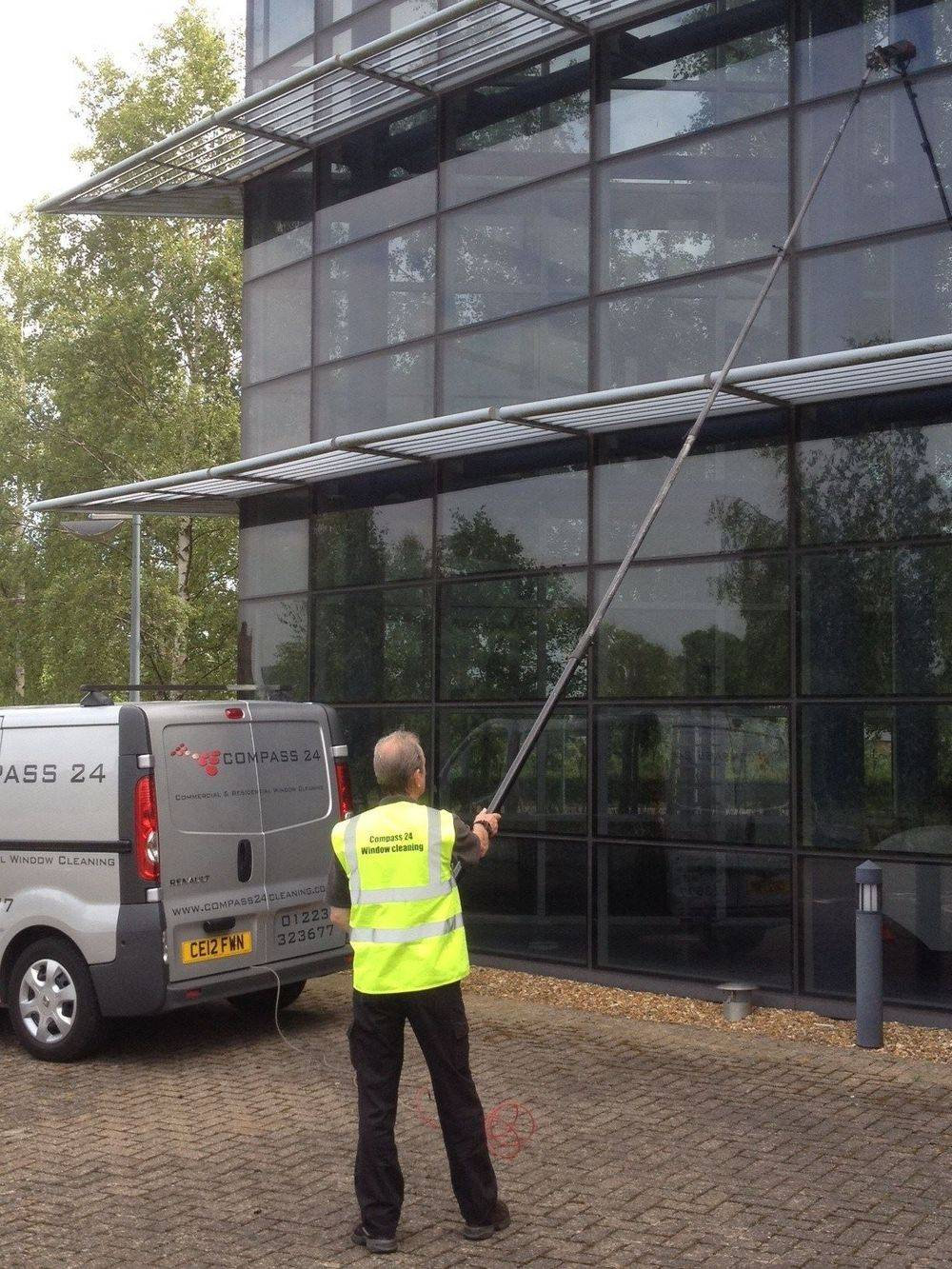 Commercial window Cleaning office