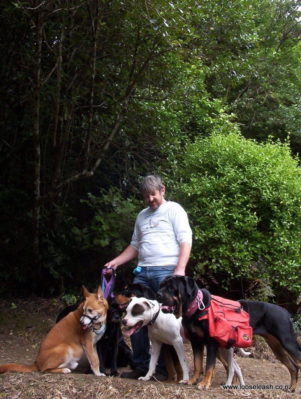 Johnsonville Dog Walker at Khandallah Park, Wellington