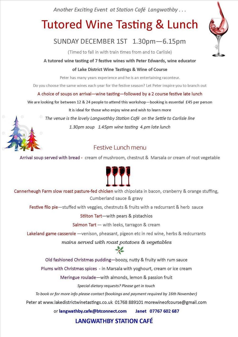 Wines for Christmas Wine Tasting, Cumbria