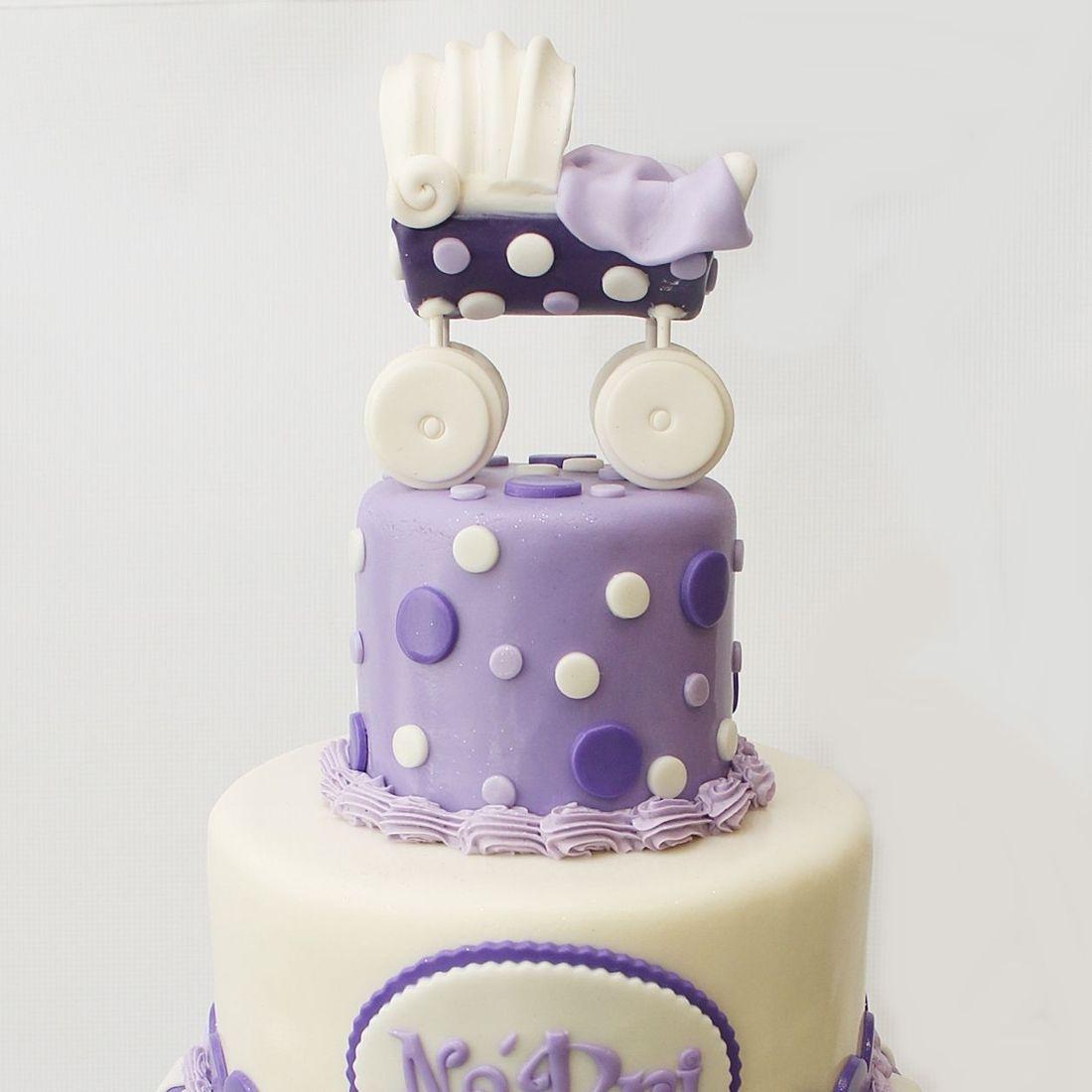 Custom Purple Baby Carriage Cake  Milwaukee