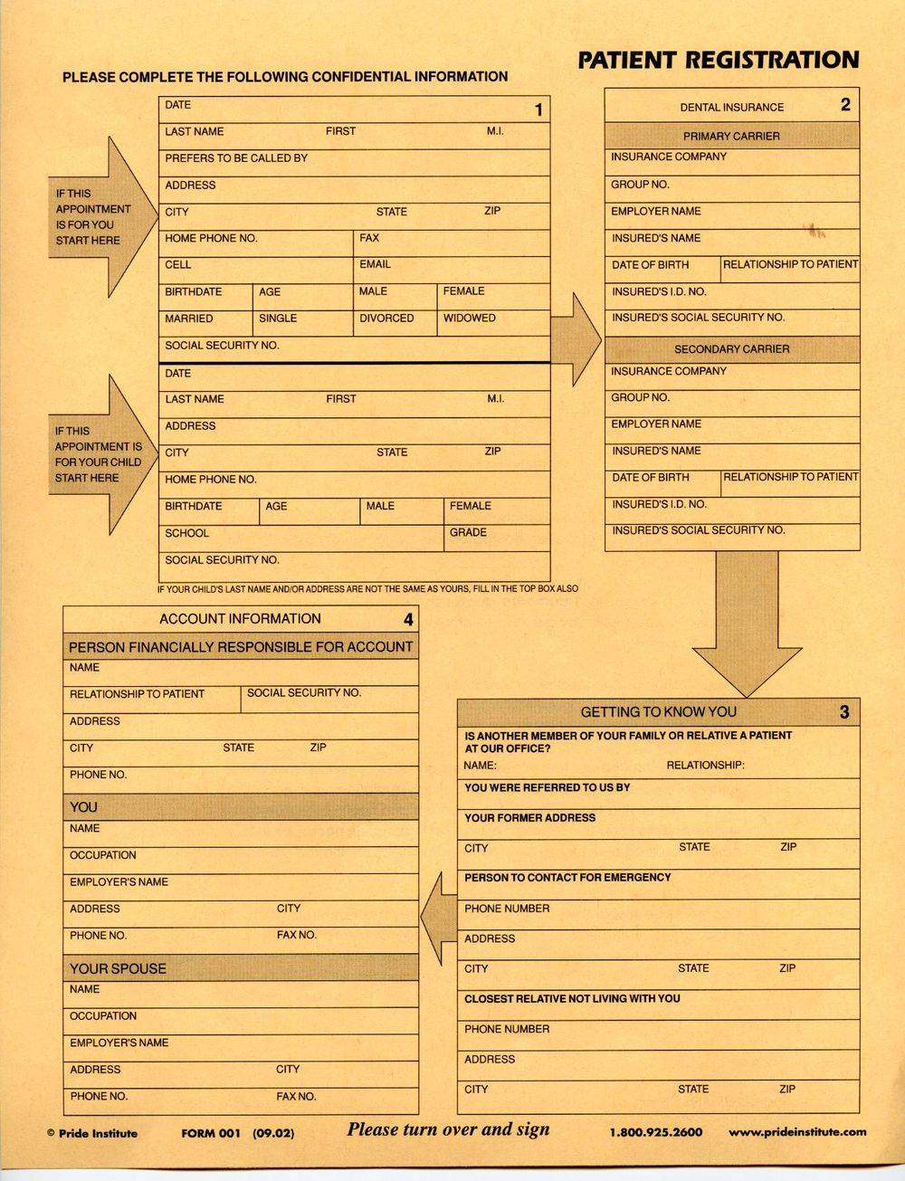 patient registration print and complete before you appointment with your new Family Dentist