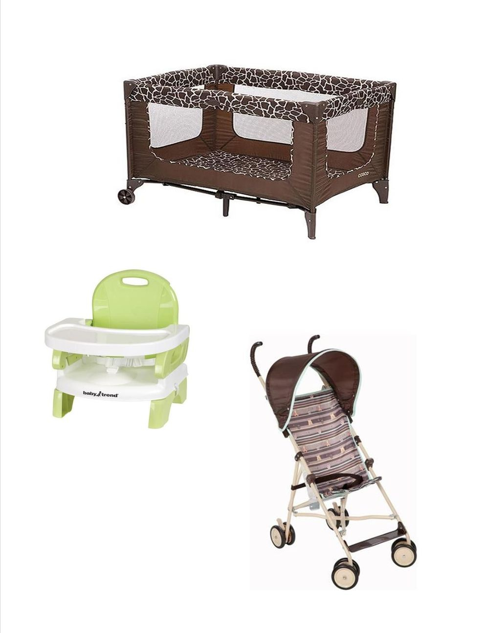 Rent Baby crib and stroller package