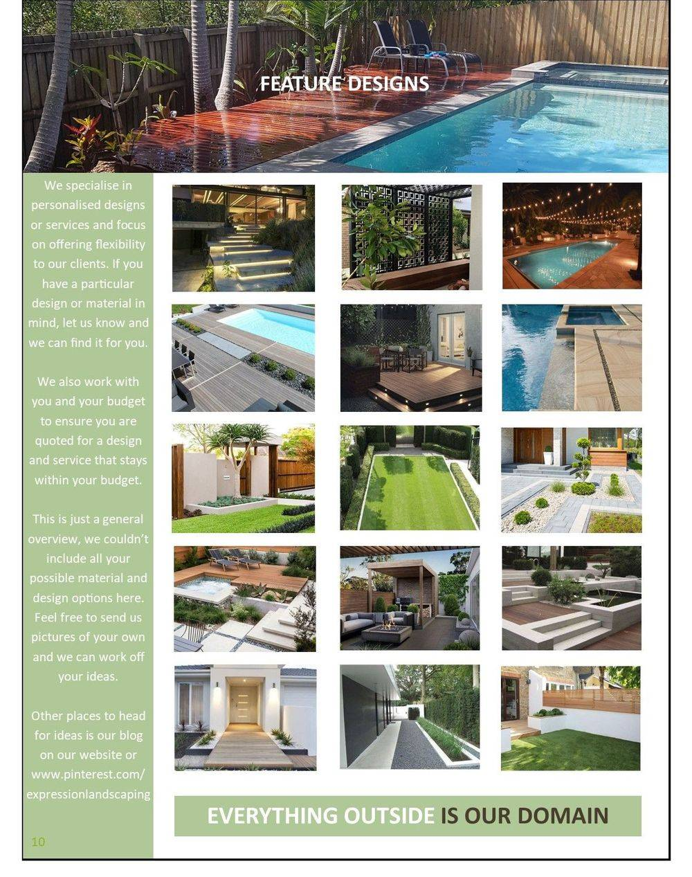 Expression Landscaping design book, landscaping ideas, landscaping materials