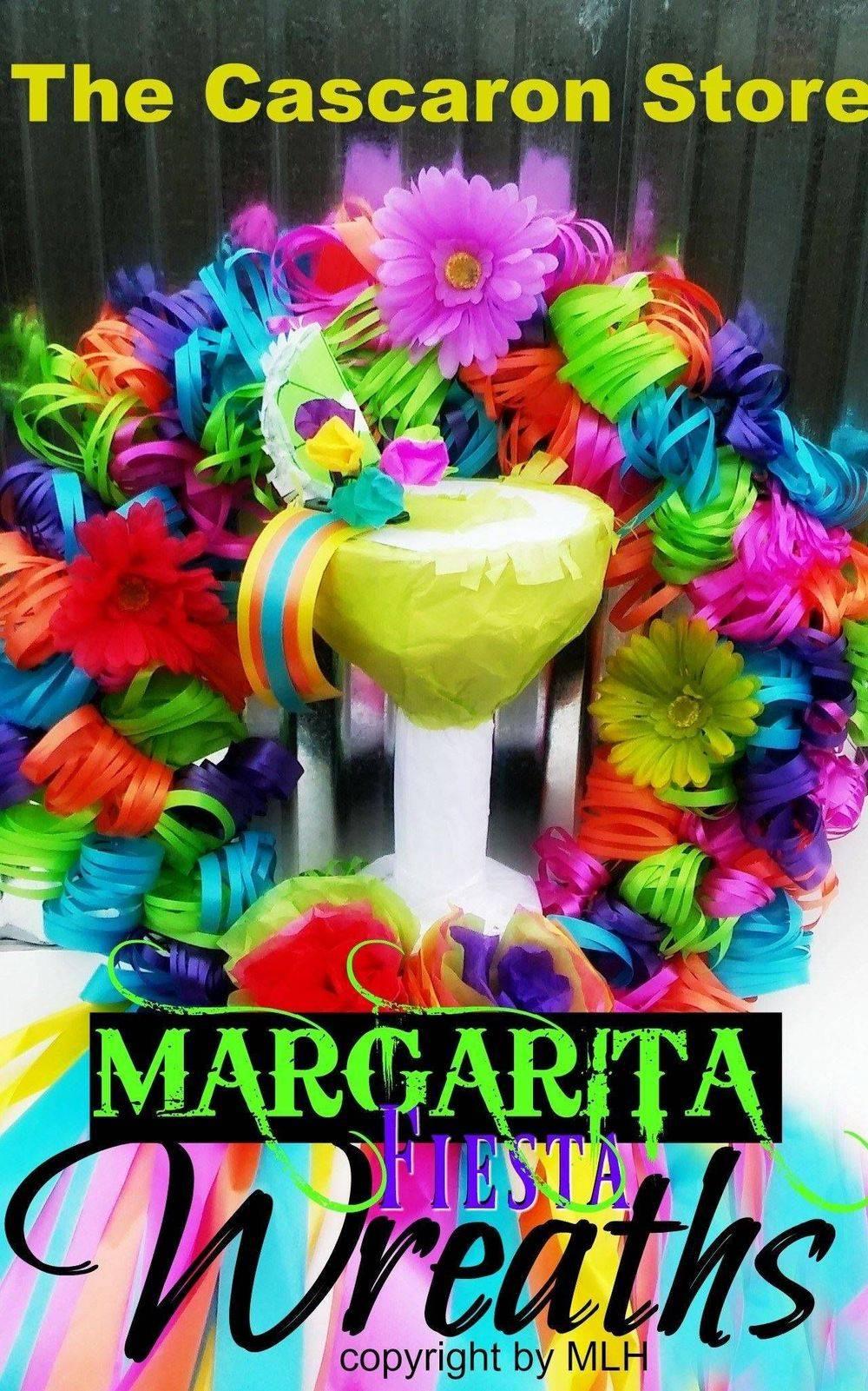 fiesta party margarita wreath