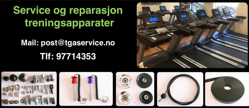 Service og reparasjon Treningsutstyr