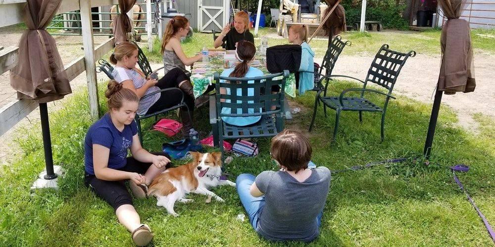 Lesson Students Edinger Farm, Rehoboth MA