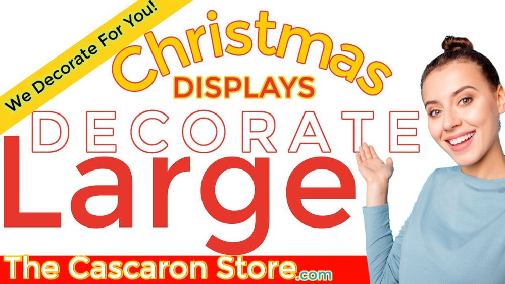 Christmas commercial display decorations