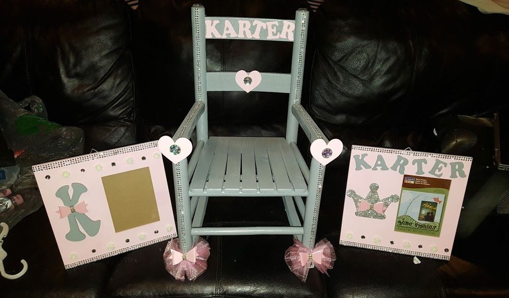 Personalized Rocking Chair and Picture Frames