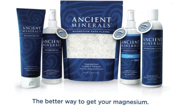 Ancient Minerals Genuine Zechstein Magnesium Oil, Gel, Lotion and Bath Flakes.