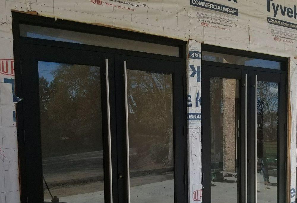 church doors in the  Germantown section of Philadelphia. New Door Installation