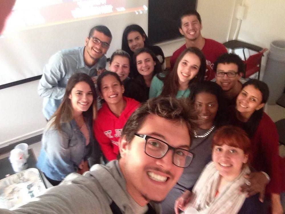 My Class of jovial Brazilian students from TLC at SJU - 2015
