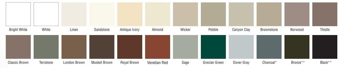 Gable Vent Colors