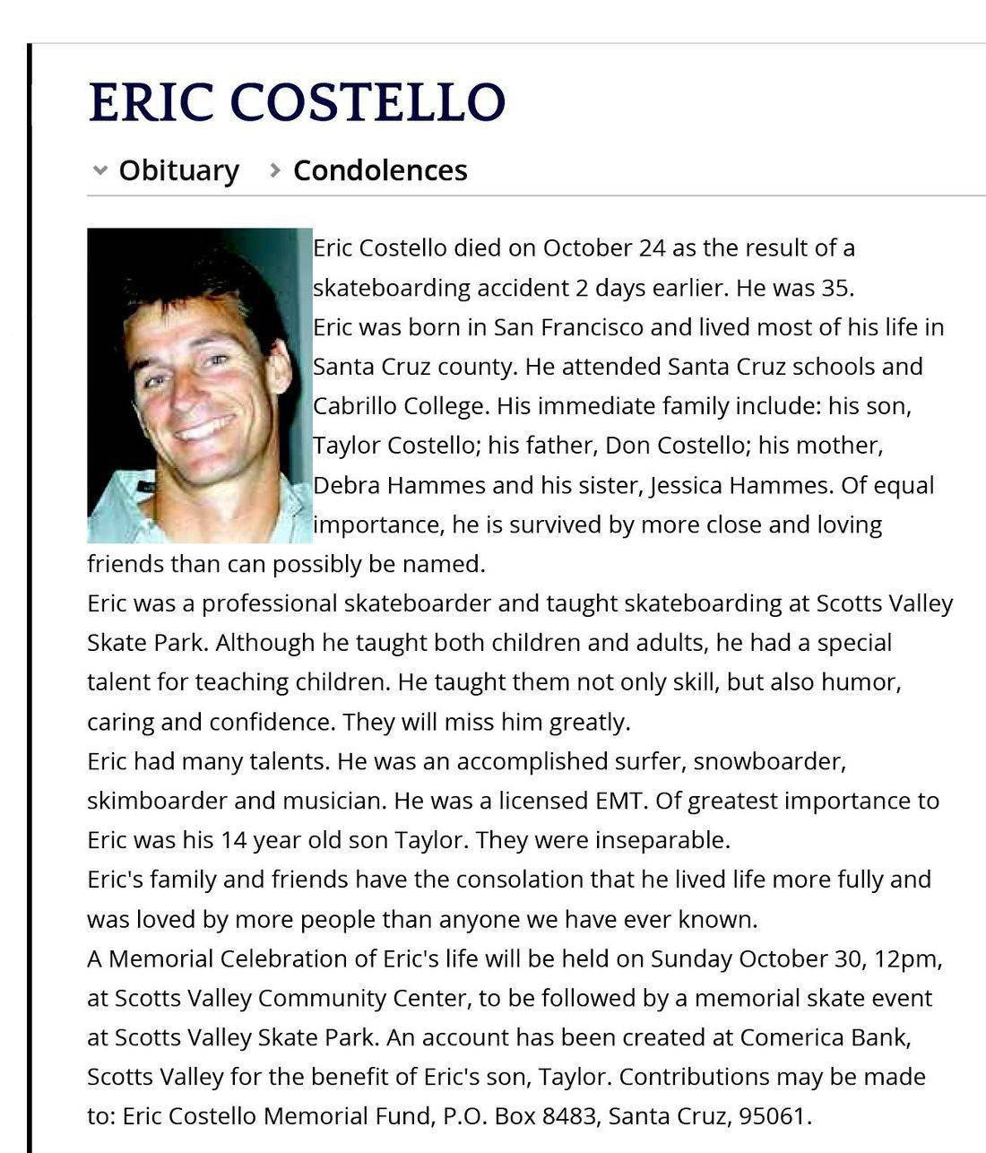 Eric Costello Santa Cruz