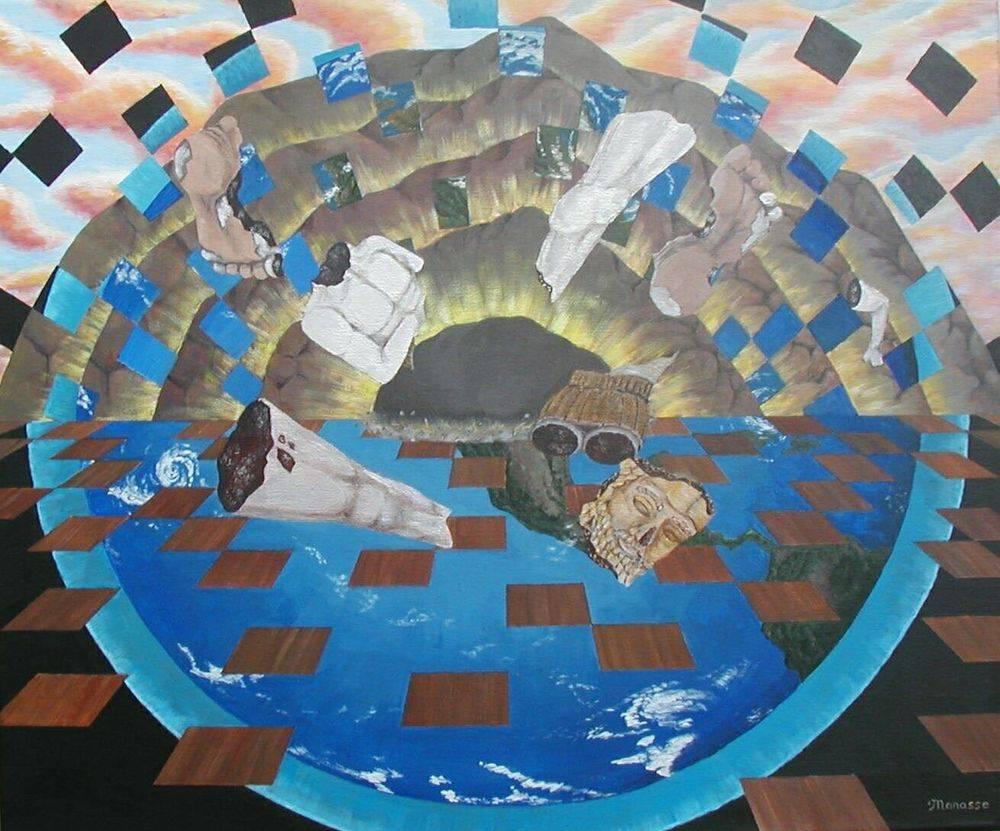 Nebuchadnezzar's Dream. Modern Art, Biblical Art, Manasse, Painting