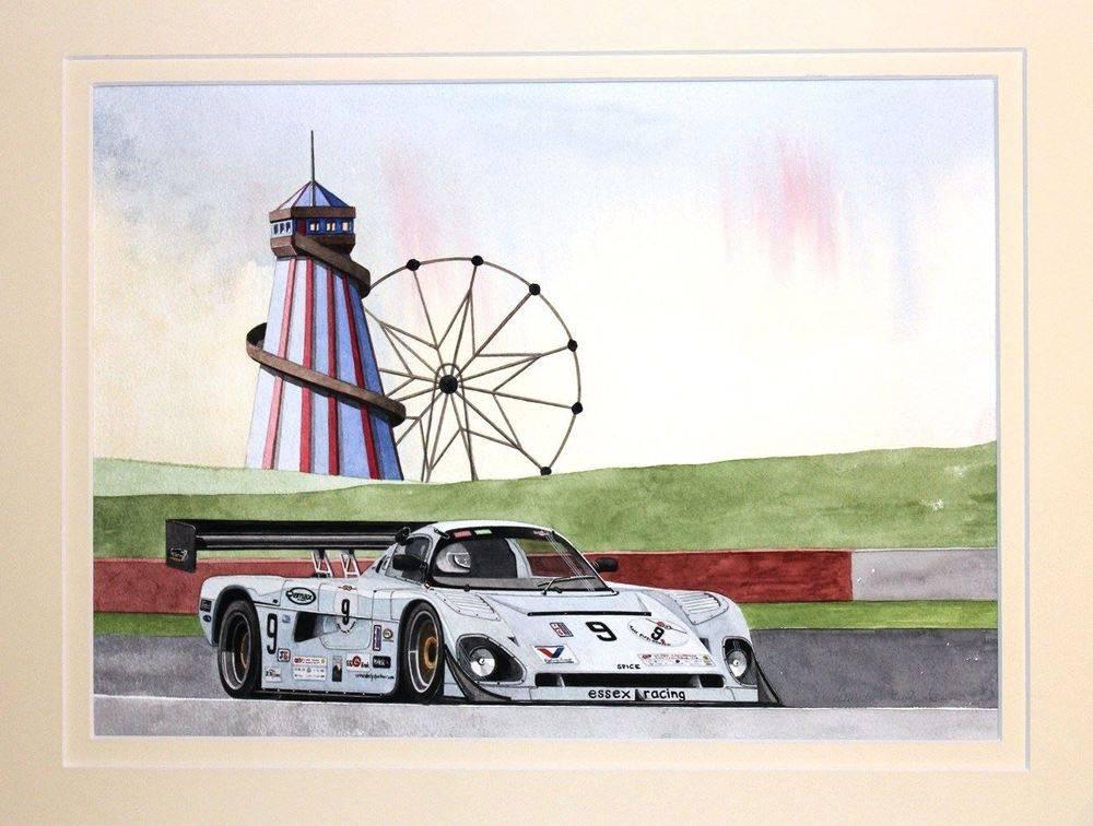 Spice SE88P Group C / IMSA Car (Watercolour) : Commission (UK)