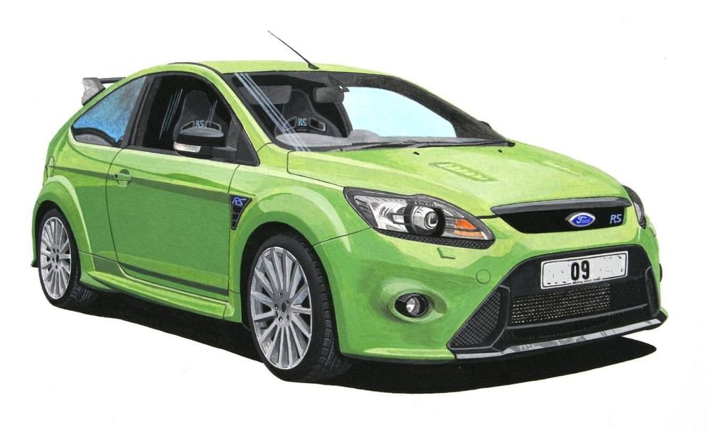 Ford Focus RS  (Acrylic) : Acrylic  Commission (UK)