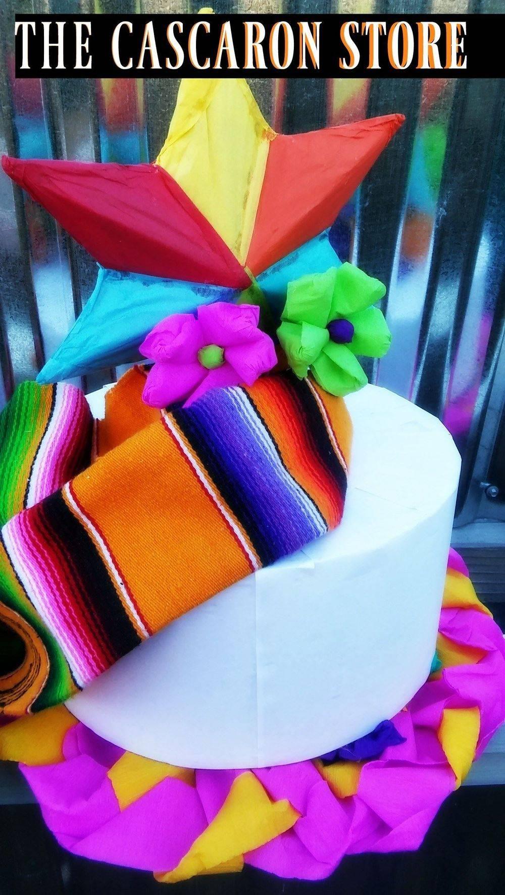 fiesta san antonio cake pinata centerpiece design by the cascaron store