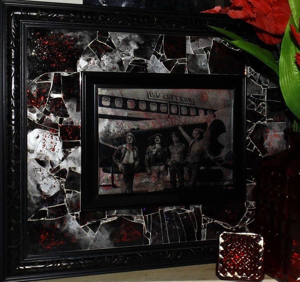 Zepplin Shattered Mosaic Glass Art by Glass by Priscilla