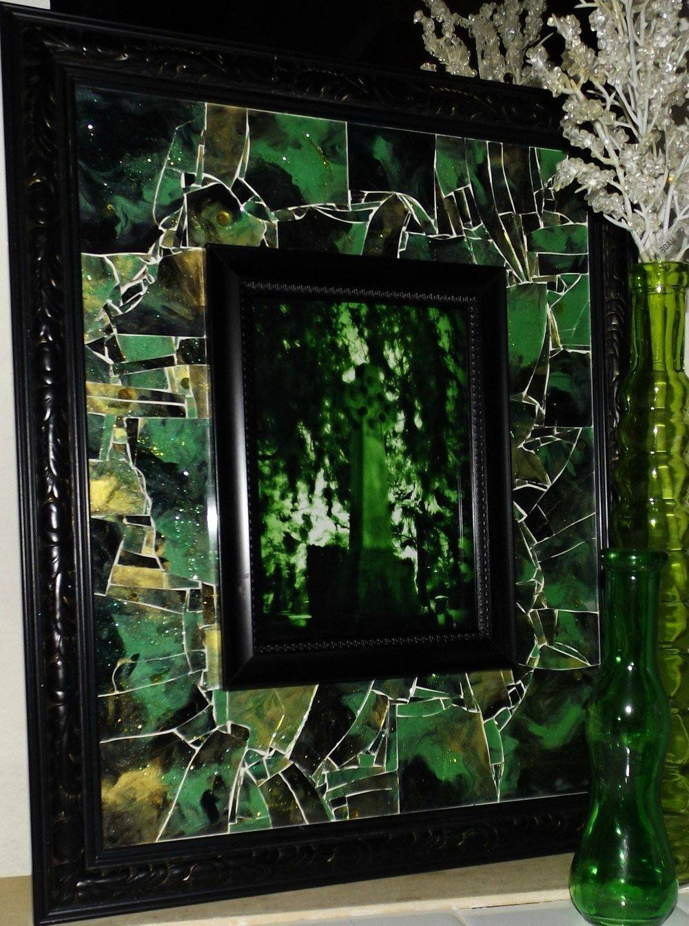 Eternally Jaded Shattered Mosaic Glass Art by Glass by Priscilla