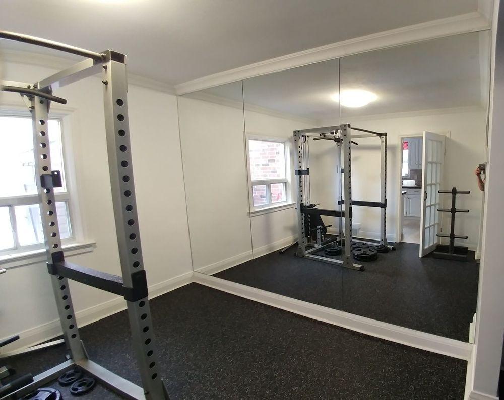Mirror Wall Home Gym, Toronto, Stoufville, Uxbridge, Newmarket, Pickering, Ajax, Markham