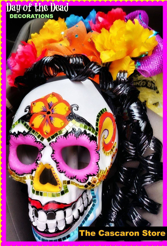 Day of The Dead Sugar Skulls Decorations