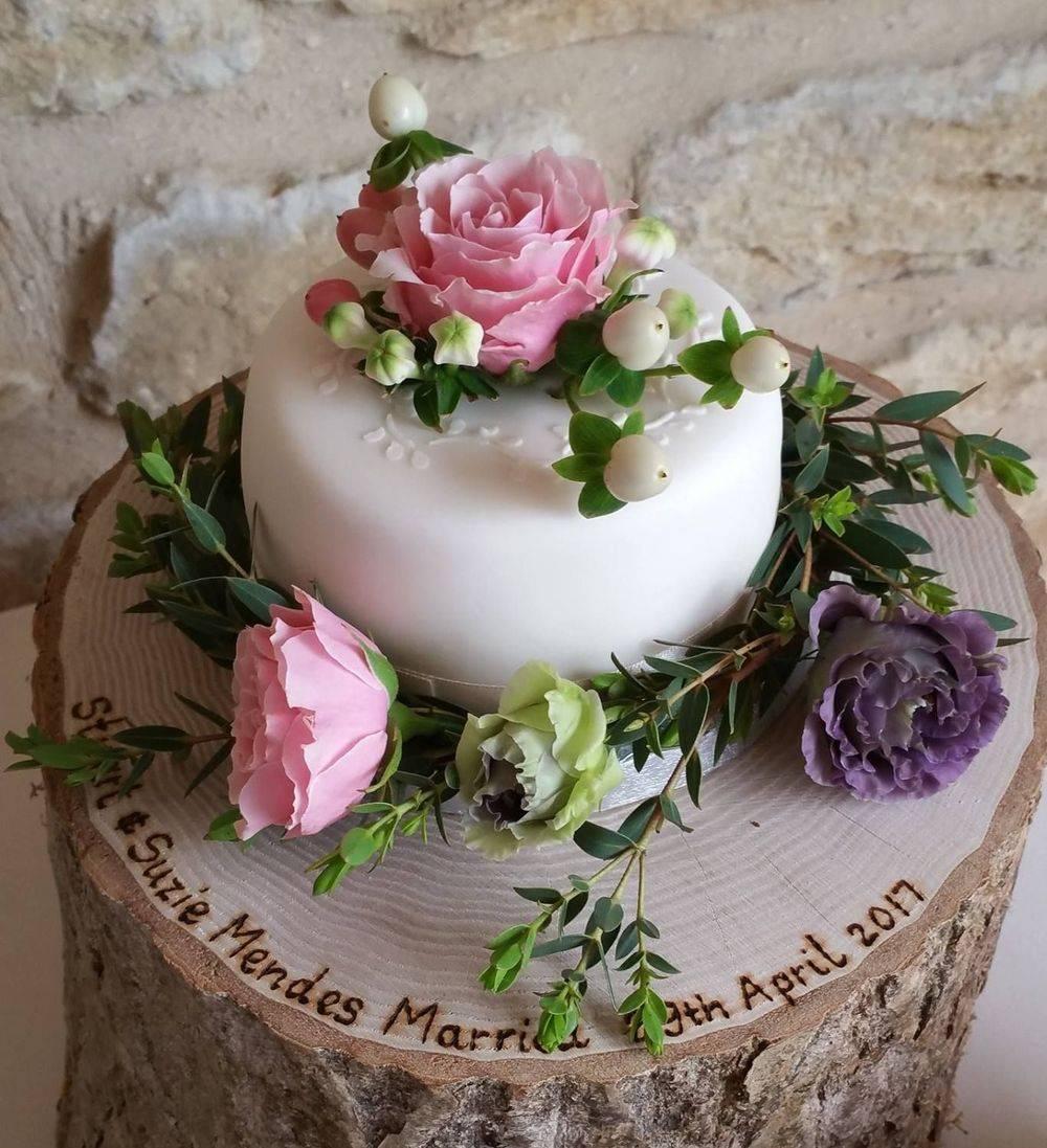 Rustic Pink Cake Flowers
