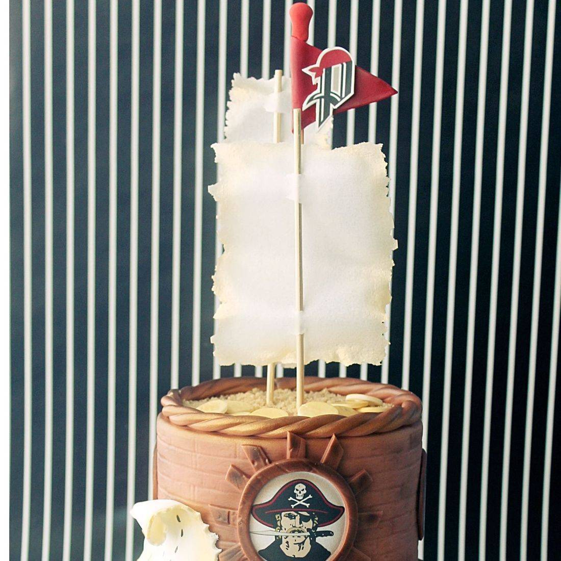 Custom Pirate Sea Sailing Cake  Milwaukee