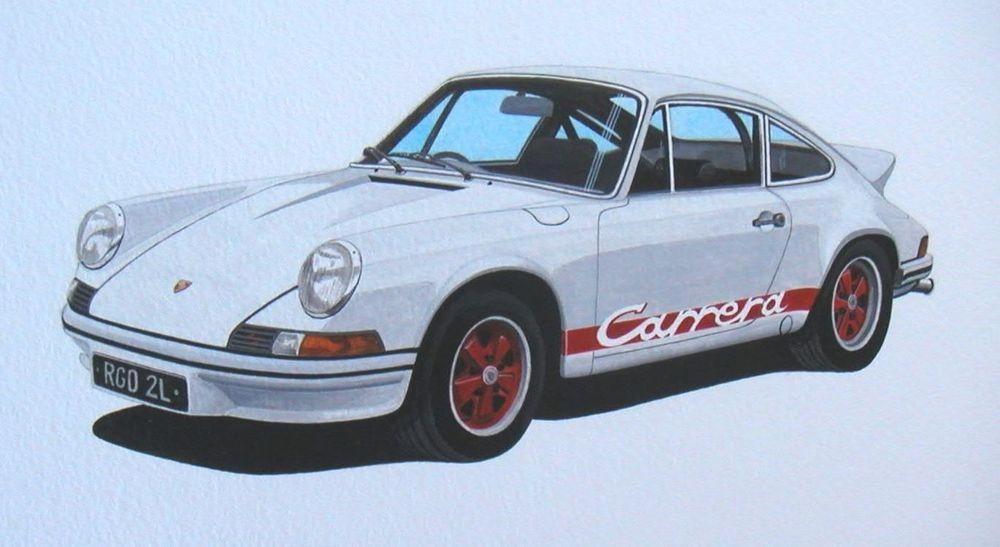 Porsche Carrera (Acrylic) : Commission (UK)