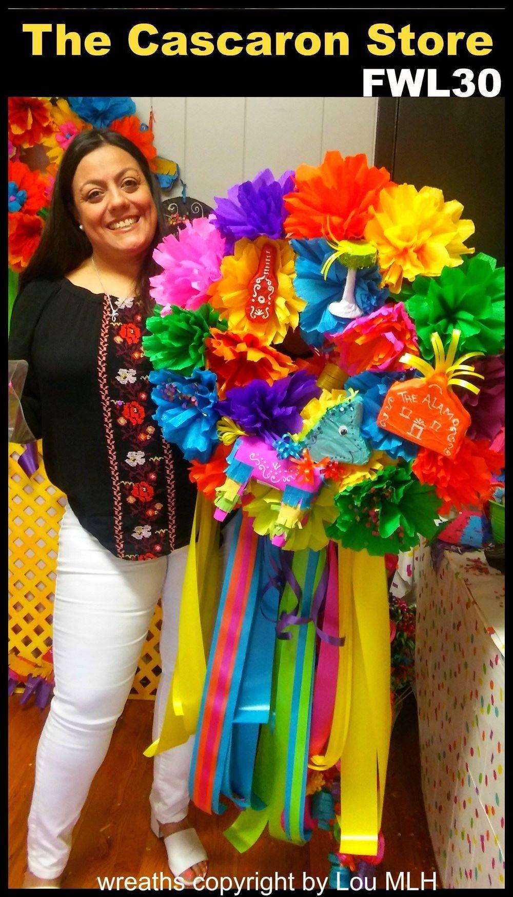 Fiesta Wreath at The Cascaron Store