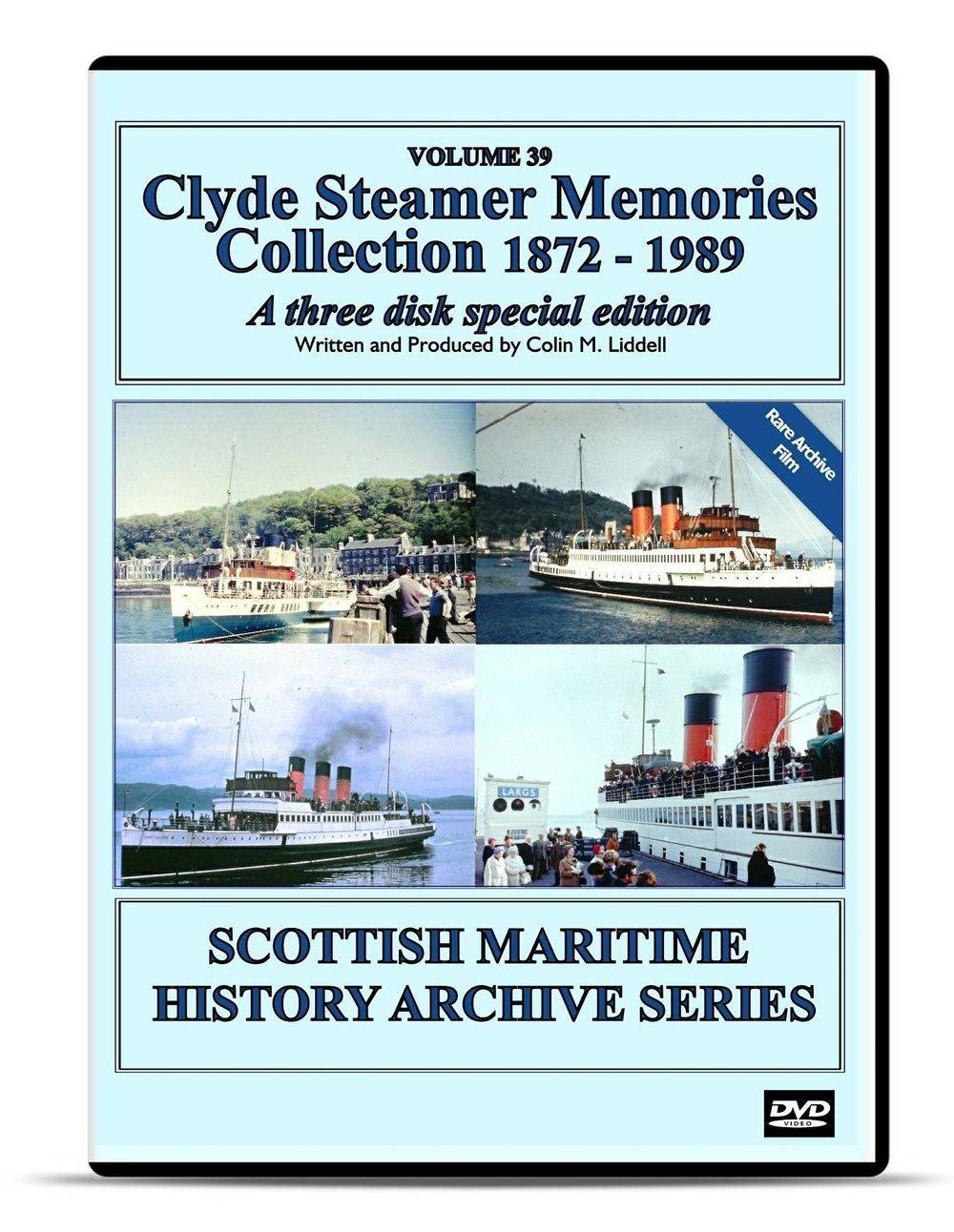 DVD Clyde Paddle Steamer Memories 1949 - 1989 Part 3 Paddle steamer TS Queen Mary II PS Waverley Duchess of Hamilton PS Jeanie Deans