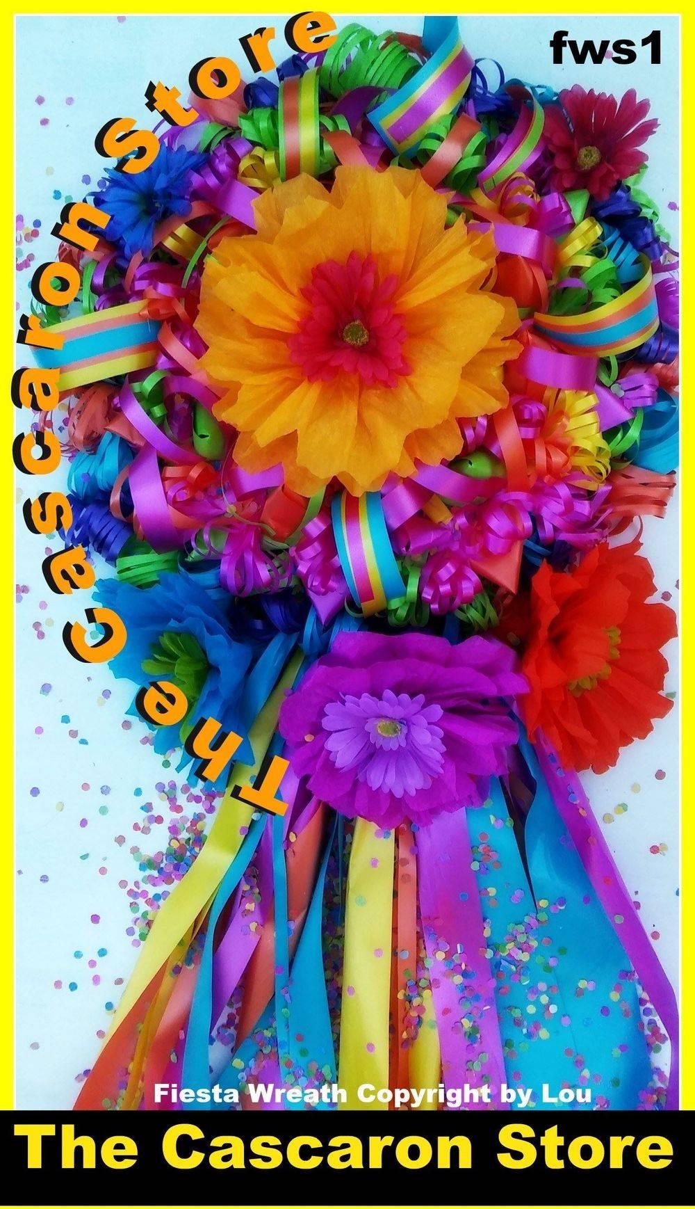 fiesta flower wreath