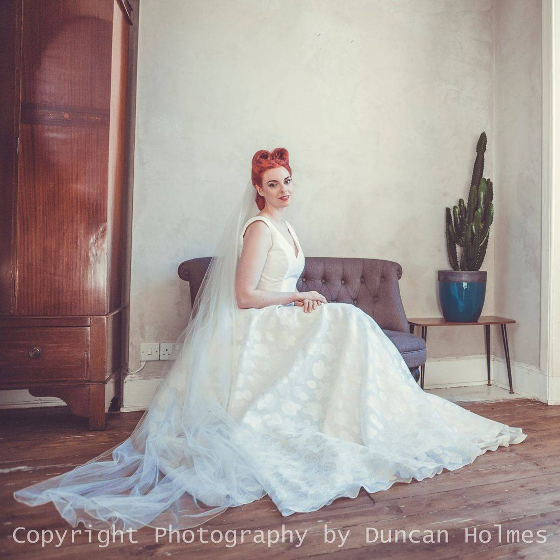 Bride in a Designer Wedding dress