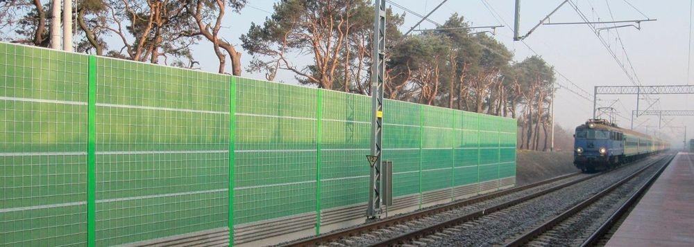 Alufera geluidsschermen - tegen treingeluid