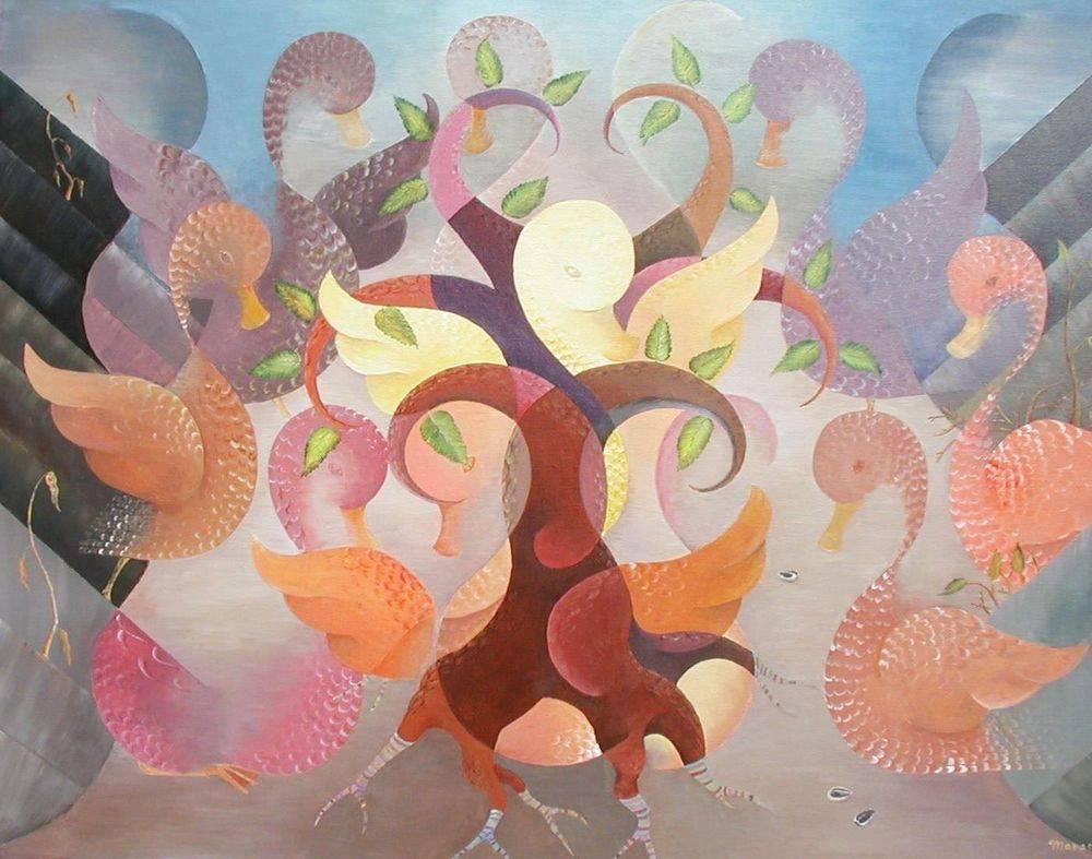 Parable of the Sower. Biblical Art, Modern, Cubism, Manasse