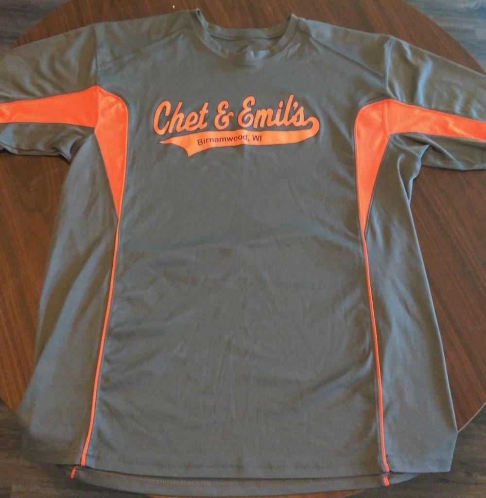 Gray/Orange Sports T-Shirt