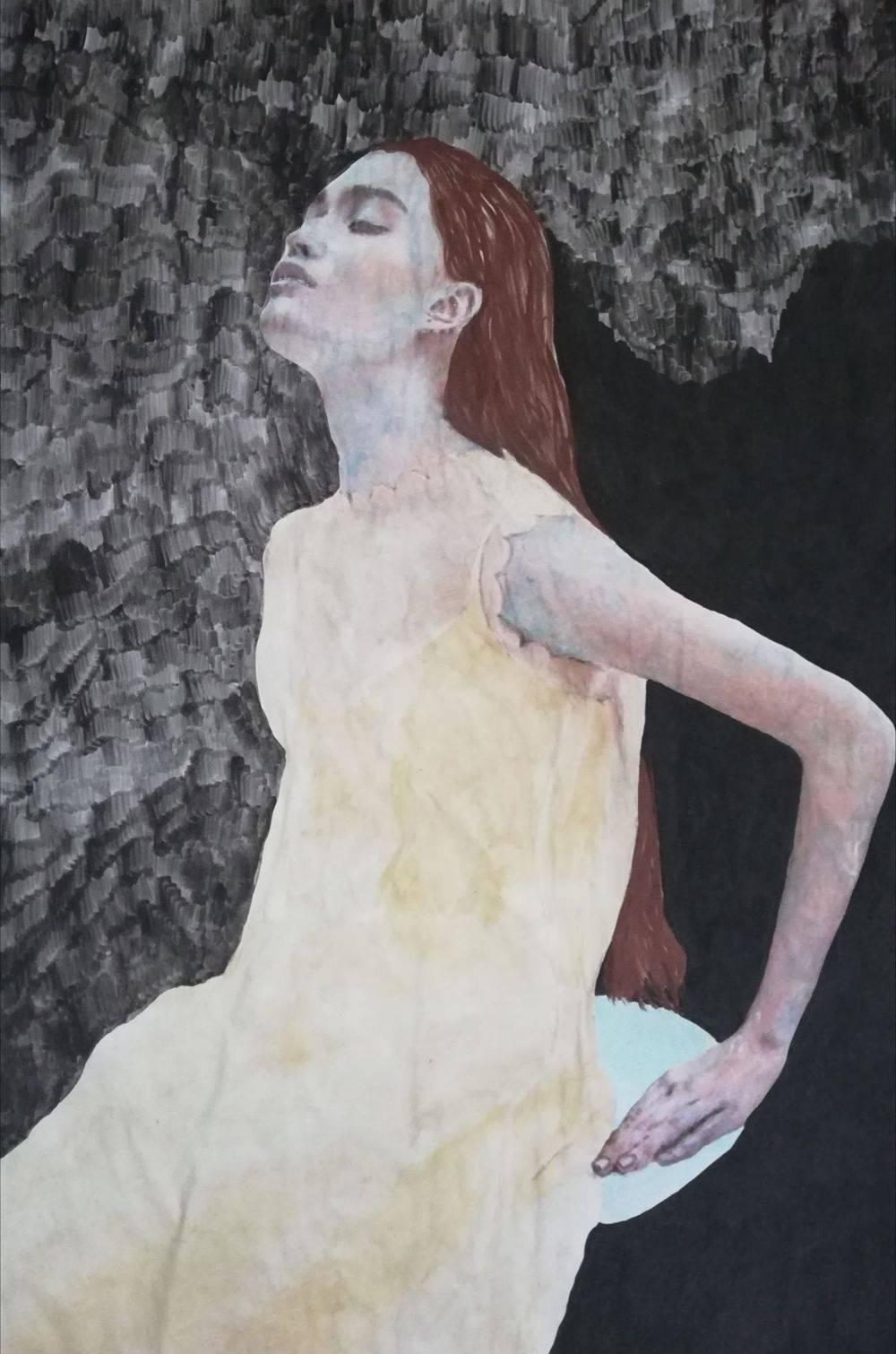 femme, aquarelle, histoire de l'art