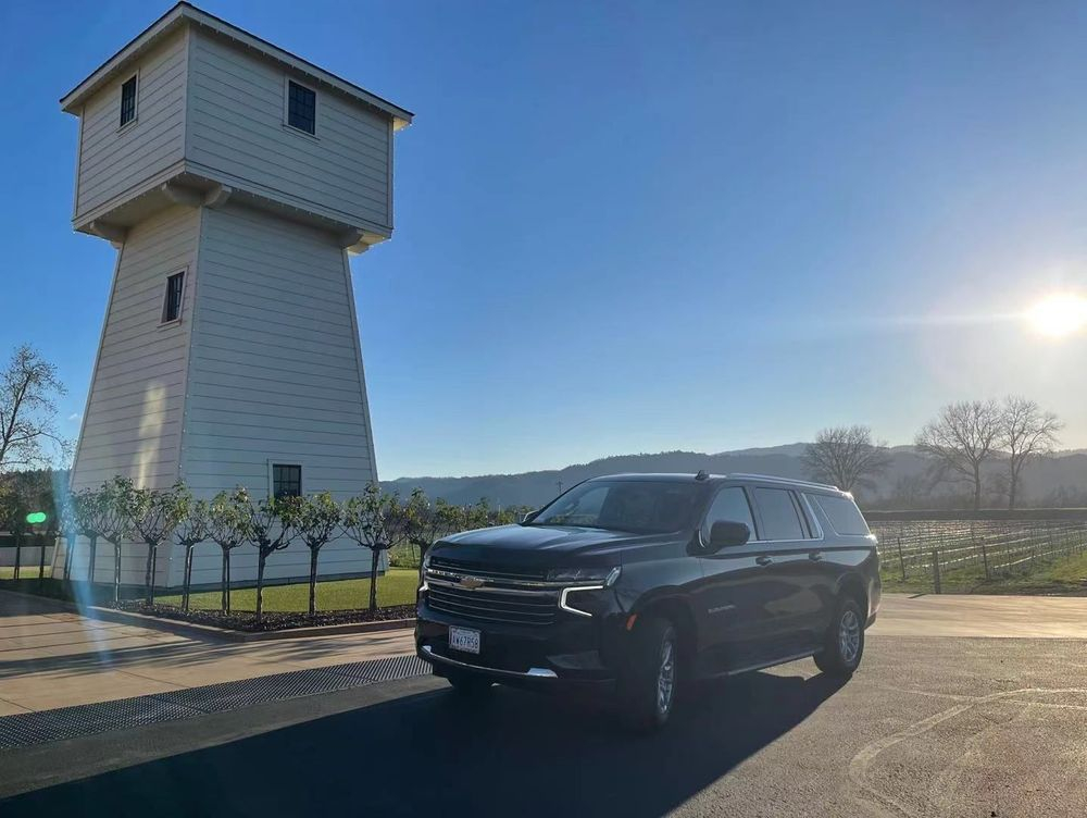 Valley Castle Winery In Calistoga CA, Transportation, private driver Chauffeur.