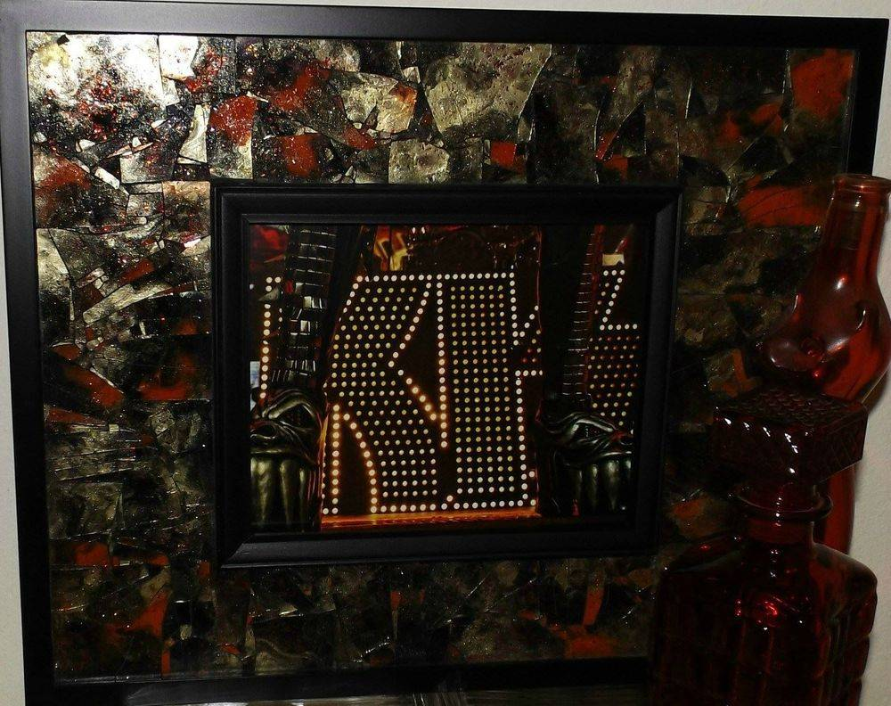 Demon KISS Shattered Mosaic Glass Art by Glass by Priscilla