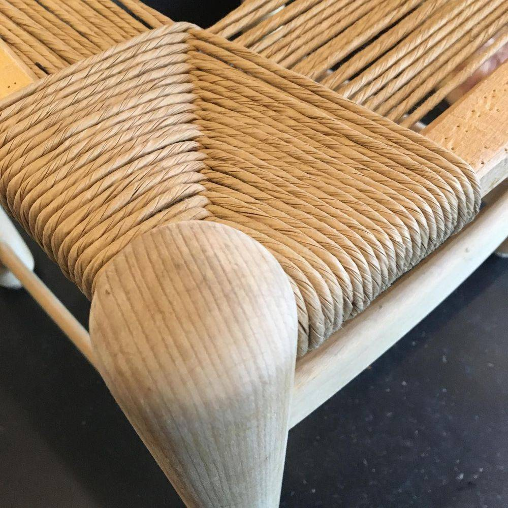 Italian chair woven with fibre rush