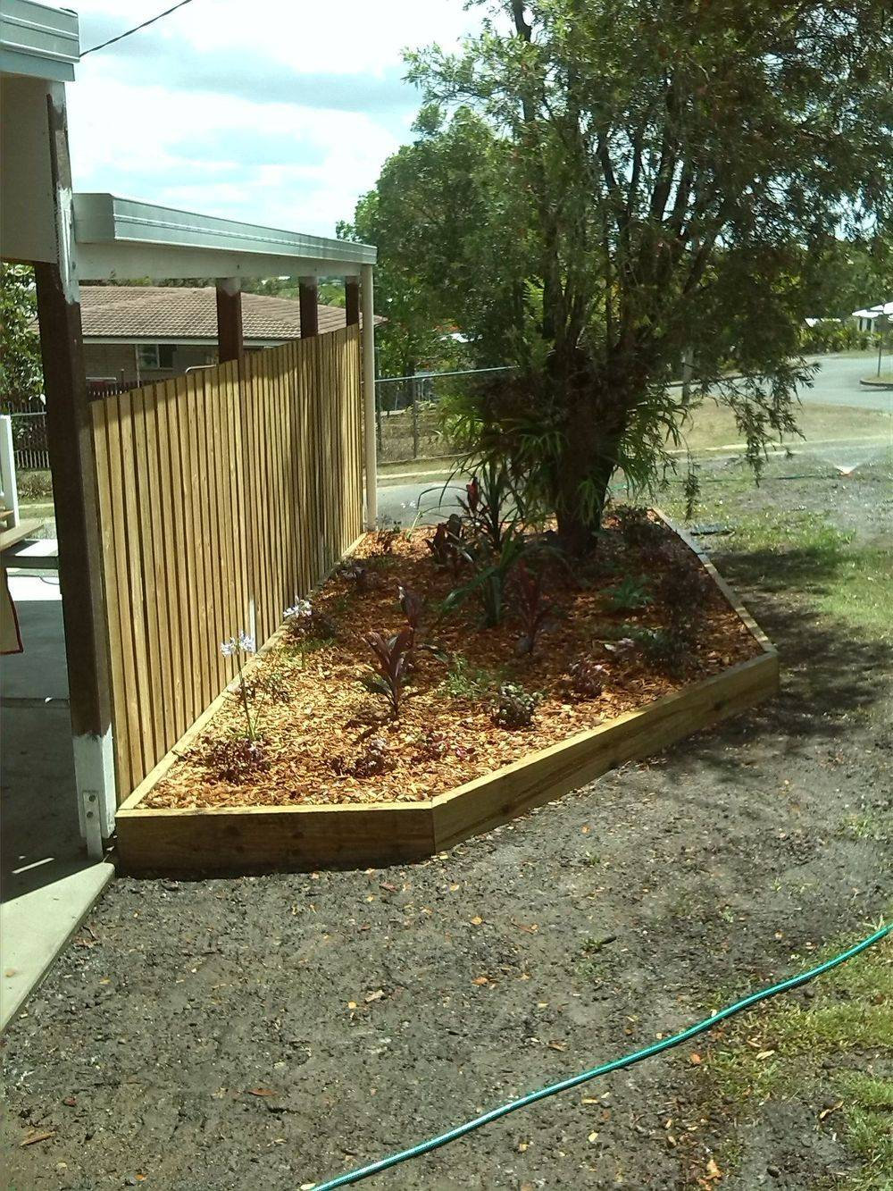 Small Pine Garden Bed Installed Gympie