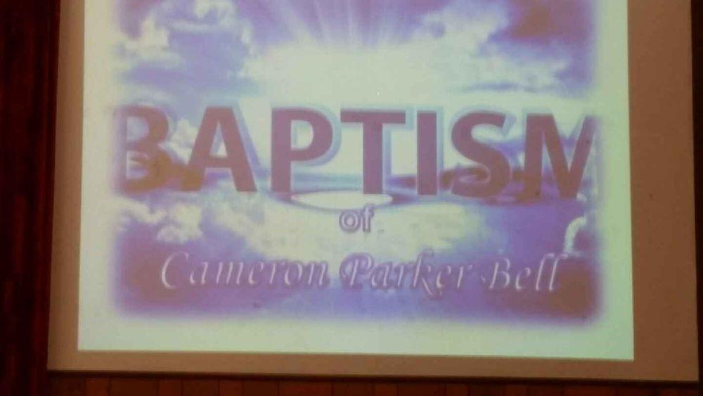Baptism of Cameron Bell June 25, 2017