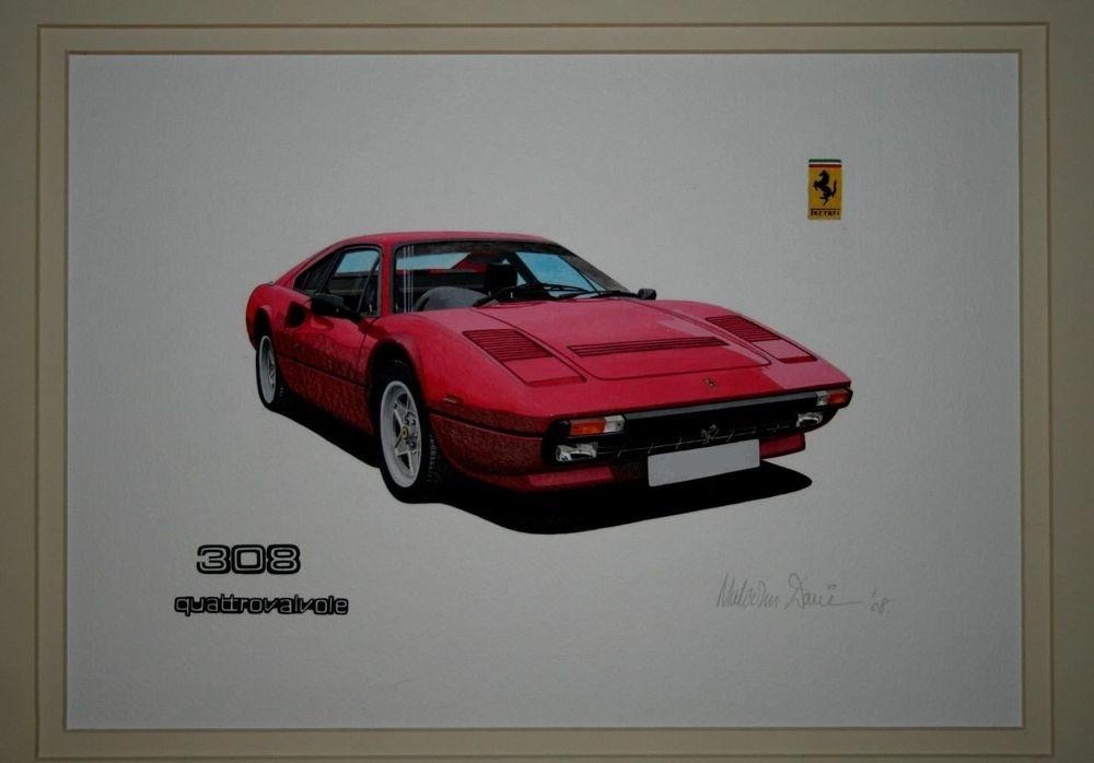 Ferrari 308 Quatrovalvole  (Acrylic) : Commission (UK)