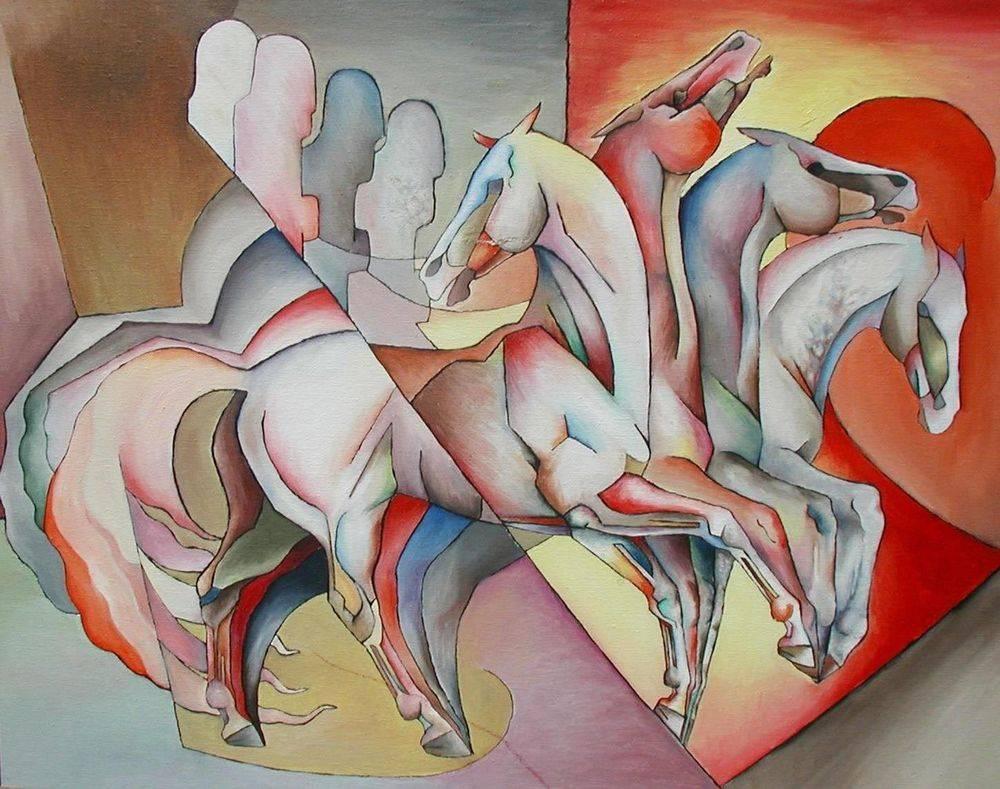 Four Horsemen of the Apocalypse. Biblical Art, Manasse, Cubism
