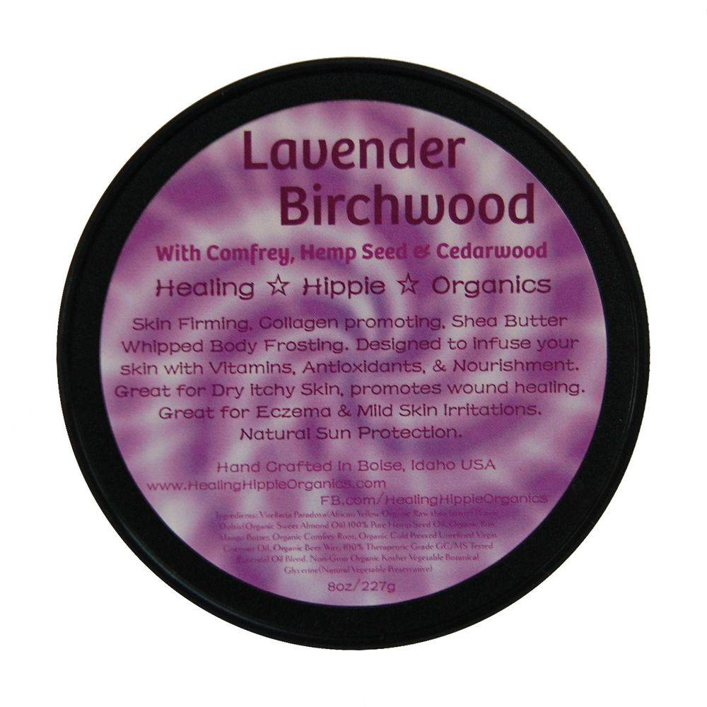 Lavender Birch Body Butter, Healing Hippie Organics, Boise, Idaho, USA