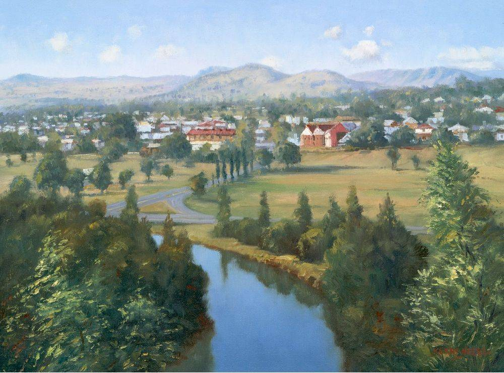 Boonah Oil Painting Giclee Print